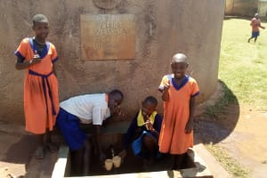 The Water Project: Essunza Primary School -  Thumbs Up For Reliable Water