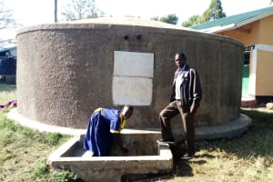 The Water Project: Shiyunzu Primary School -  Emma Ayesa Fetches Water