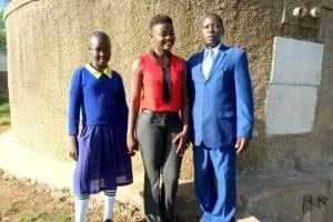 The Water Project: Shiyunzu Primary School -  Emma Ayesa Field Officer Jemmimah Khasoha And Head Teacher John Angaya