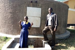 The Water Project: Shiyunzu Primary School -  Thumbs Up For Reliable Water