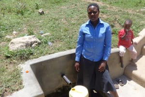 The Water Project: Shitungu Community, Suleiman Spring -  Diana Immitsa At The Spring