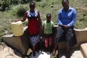 The Water Project: Shitungu Community, Suleiman Spring -  Esther Waka And Diana Immitsa