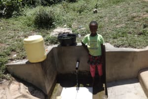 The Water Project: Shitungu Community, Suleiman Spring -  Esther Waka