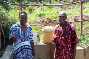The Water Project: Emarembwa Community, Nyangweso Spring -  Thumbs Up For Safe Reliable Water