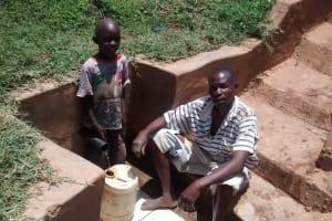 The Water Project: Shikhuyu Community -  Dickson Aswani And John Memba