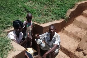 The Water Project: Shikhuyu Community -  Thumbs Up For Reliable Water