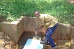 The Water Project: Wanzuma Community, Wanzuma Spring -  Mr Abisaye