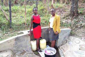 The Water Project: Bukhakunga Community, Indiatsi Omukitsa Spring -  Immah Luvanga At The Spring