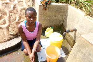 The Water Project: Tsivaka Community, Wefwafwa Spring -  Milldred Lumbasi
