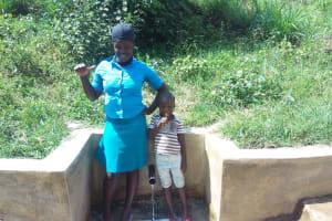 The Water Project: Ebung'ayo Community, Wycliffe Spring -  Christabel Nasimiyu And Mary Nekesa