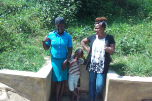 The Water Project: Ebung'ayo Community, Wycliffe Spring -  Thumbs Up For Safe Water