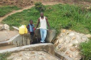 The Water Project: Shitungu Community B, Charles Amala Spring -  Eugine Amala And Enock Amala At The Spring