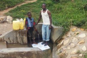 The Water Project: Shitungu Community B, Charles Amala Spring -  Eugine Amala And Enock Amala