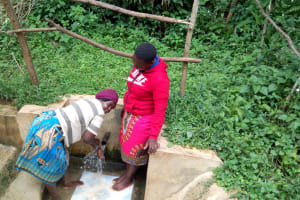 The Water Project: Hondolo Community, Musila Spring -  Reliable Water