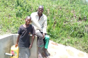 The Water Project: Shivagala Community, Paul Chengoli Spring -  Doreen And Stephen