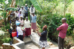 The Water Project: Chegulo Community, Werabunuka Spring -  Training At The Spring