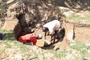 The Water Project: Kivani Community C -  Construction