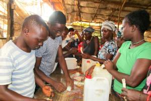 The Water Project: Tintafor Community, Shyllon Street -  Making Handwashing Stations
