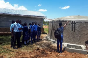 The Water Project: Kamuluguywa Secondary School -  Tank Management Training