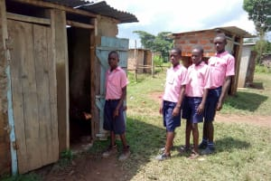 The Water Project: Friends Kaimosi Demonstration Primary School -  Boys At Their Latrines