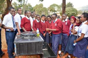 The Water Project: Ndoo Secondary School -  Handwashing Training