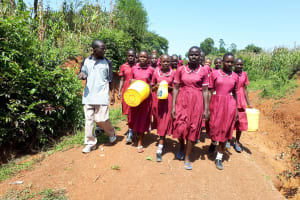 The Water Project: Namarambi Primary School -  Going To Fetch Water