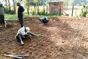 The Water Project: Lusiola Primary School -  Tank Foundation Construction