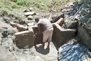 The Water Project: Ewamakhumbi Community, Yanga Spring -  Spring Construction