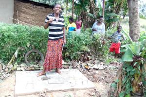 The Water Project: Isembe Community, Amwayi Spring -  Sanitation Platform
