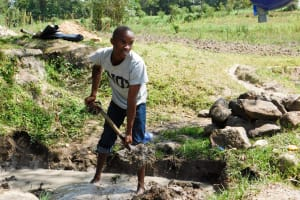 The Water Project: Indete Community, Udi Spring -  Spring Construction