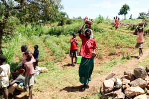 The Water Project: Mungaha B Community, Maria Spring -  Carrying Materials