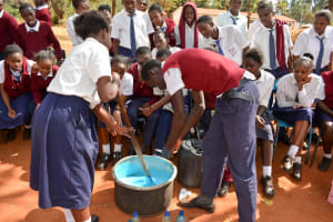 The Water Project: Ndoo Secondary School -  Making Soap