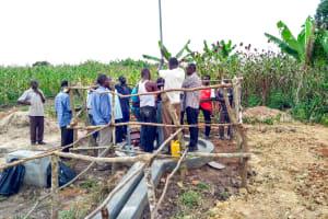 The Water Project: Alimugonza Community -  Pump Installation