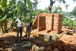 The Water Project: Muyere Primary School -  Latrine Construction