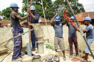 The Water Project: Tintafor Community, Shyllon Street -  Drilling