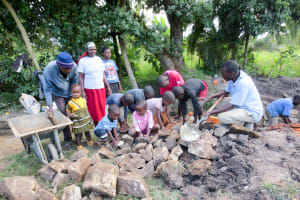 The Water Project: Muyundi Community, Baraza Spring -  Spring Construction