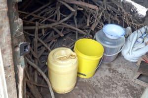 The Water Project: Namarambi Primary School -  Water Storage In Kitchen