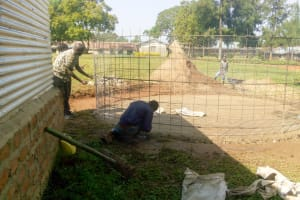 The Water Project: Kamuluguywa Secondary School -  Tank Construction