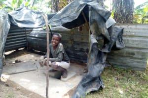 The Water Project: Indete Community, Udi Spring -  Sanitation Platform