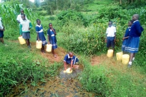 The Water Project: Shikusa Primary School -  Fetching Water