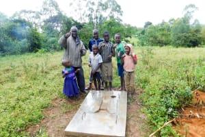 The Water Project: Chegulo Community, Yeni Spring -  Sanitation Platform