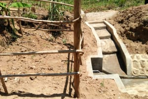The Water Project: Ematetie Community, Chibusia Spring -  Fence The Community Built To Protect The Area Behind The Pipe