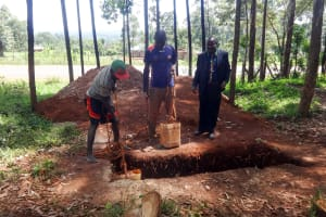 The Water Project: Viyalo Primary School -  Sinking A Latrine Pit