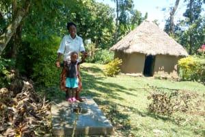 The Water Project: Muyundi Community, Baraza Spring -  Sanitation Platform