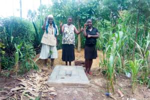 The Water Project: Chegulo Community, Werabunuka Spring -  Sanitation Platform