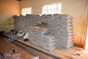 The Water Project: Ndoo Secondary School -  Bags Of Cement