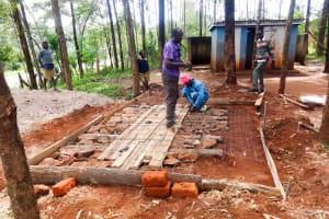 The Water Project: Viyalo Primary School -  Preparing A Latrine Foundation