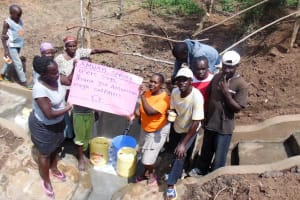 The Water Project: Isembe Community, Amwayi Spring -  Thank You