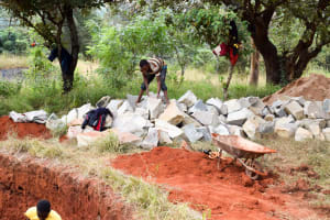 The Water Project: Ndoo Secondary School -  Picking Out The Next Stone