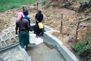 The Water Project: Chegulo Community, Werabunuka Spring -  Finished Spring Protection
